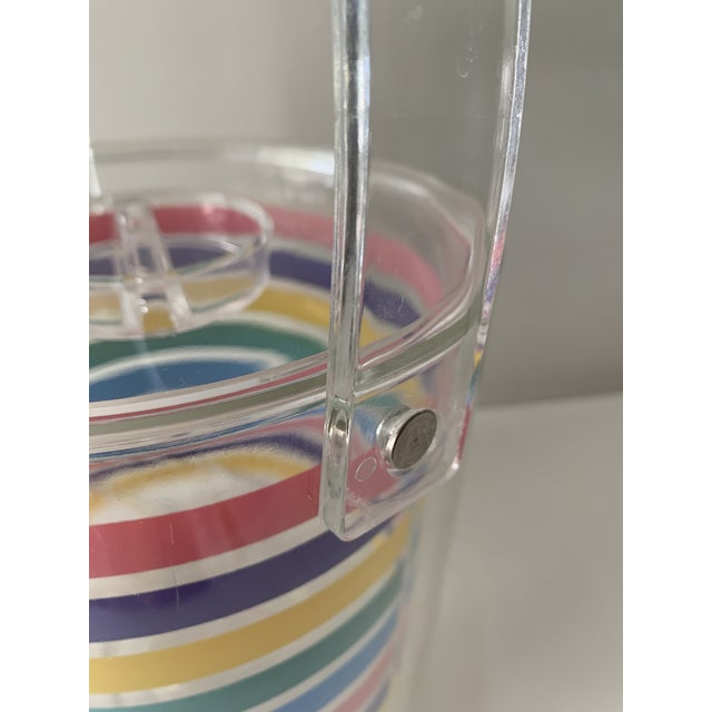 1980s Striped Ice Bucket For Sale - Image 4 of 11