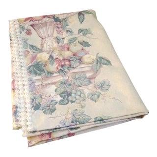 Vintage Polished Cotton Print Tablecloth For Sale