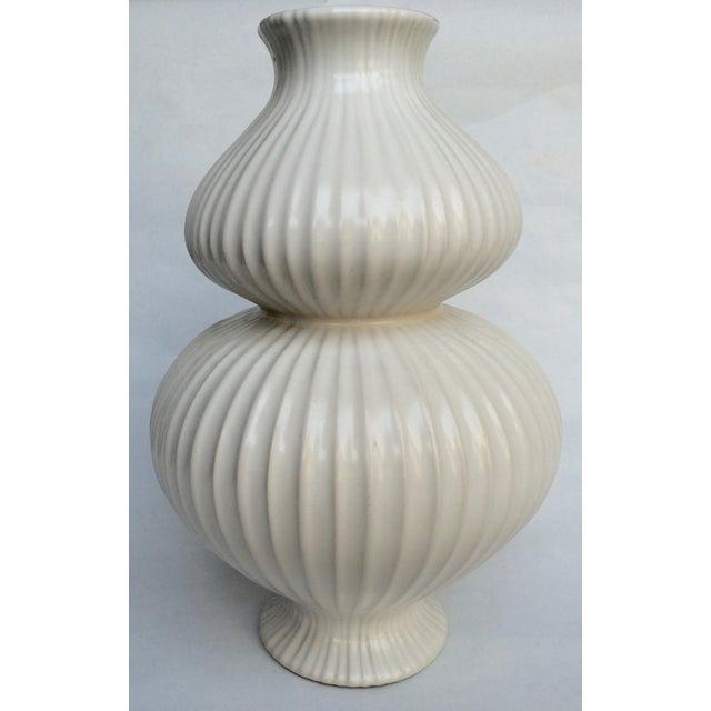 Jonathan Adler White Vase - Image 2 of 4