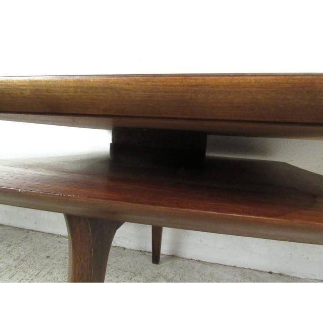 Vintage Modern Two-Tier Pivot Coffee Table For Sale - Image 9 of 11