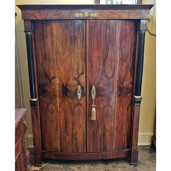 Brown Early 19th Century French Empire Armoire Wine Cabinet For Sale - Image 8 of 8