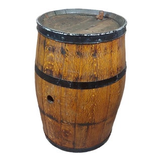 19th Century Antique Oak Wine Barrel -Circa 1840/1860s For Sale