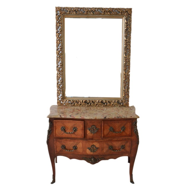 French Gold Filigree Carved Mirror - Image 2 of 4