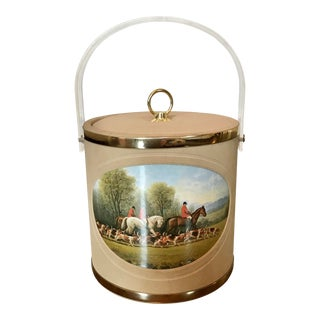 Vintage Mid-Century Equestrian Ice Bucket For Sale