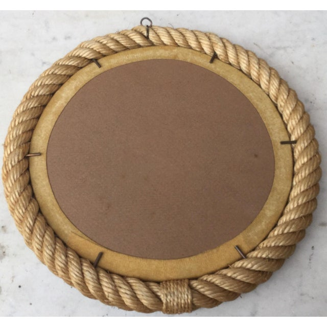 Adrien Audoux and Frida Minet 1960s Vintage Audoux Minet Round Rope Mirror For Sale - Image 4 of 6
