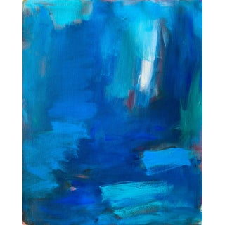 """Grotto"" by Trixie Pitts Abstract Expressionist Oil Painting For Sale"