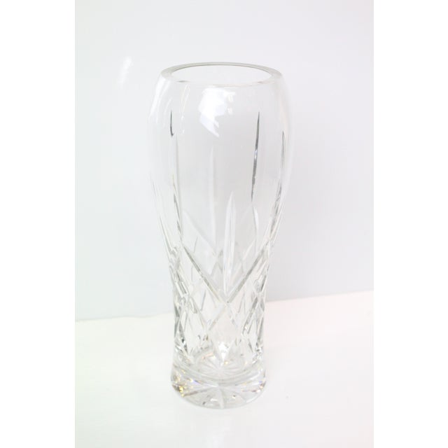 Mid 20th Century Vintage Cut Glass Vase For Sale - Image 5 of 5