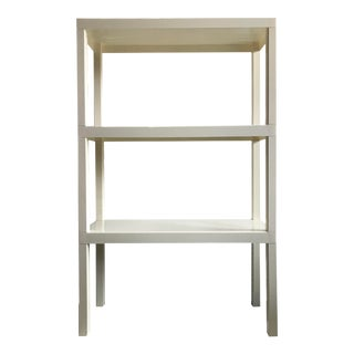 1960s White Plastic Modular Shelf Unit For Sale