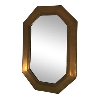 Mid-Century Moroccan Brass Octagonal Mirror For Sale