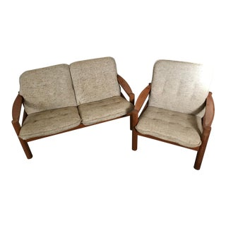 Mid Century Domino Mobler Loveseat & Chair- a Pair For Sale