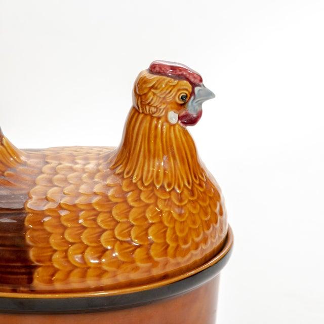 Vintage Steuler Keramik Large Nesting Hen Casserole Covered Dish For Sale - Image 9 of 13