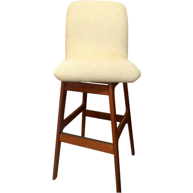 Danish Mid-Century Swivel Bar Stool - Image 1 of 5