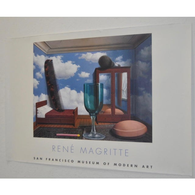 Contemporary C.2000 Rene Magritte Exhibition Poster San Francisco Museum of Modern Art For Sale - Image 3 of 6