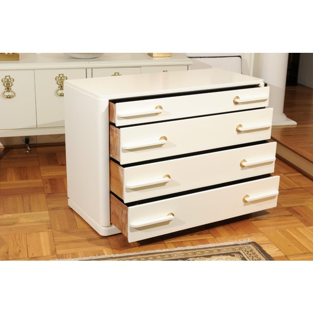 Sublime Restored Streamline Moderne Commode by Gilbert Rohde, circa 1930 For Sale - Image 9 of 13