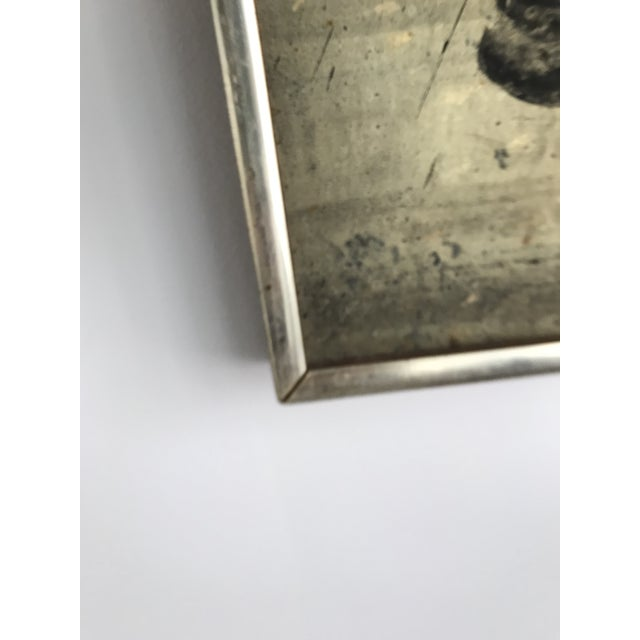 Metal Vintage Mid Century Modern Abstract Oil Painting on Board- Signed For Sale - Image 7 of 10