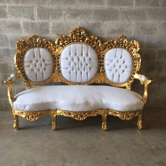 1940s 1940s Vintage Rococo Style Sofa For Sale - Image 5 of 6