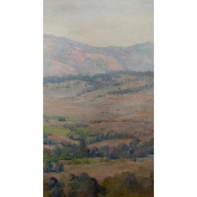 Charles Fries -The Land of the Oaks-California Plein Air Oil Painting c1918 For Sale In Los Angeles - Image 6 of 12