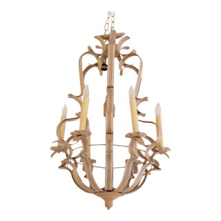 Custom Niermann Weeks Painted Tole Chandelier For Sale