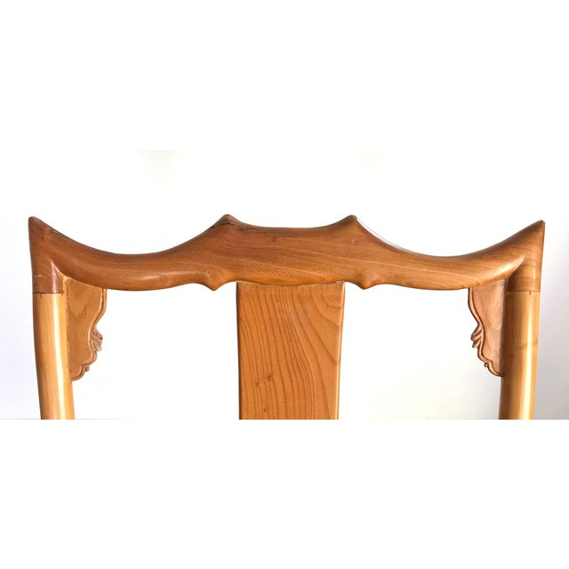 High Back Antique Chinese Officials 'Bat Wing' Chairs - a Pair For Sale - Image 4 of 8