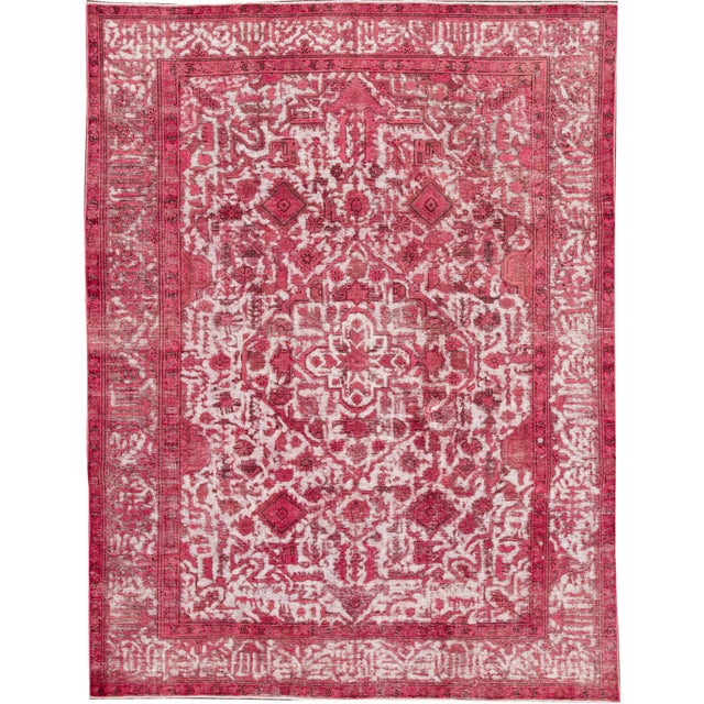 """Apadana - Vintage Overdyed Rug, 10'9"""" X 8'1"""" For Sale In New York - Image 6 of 6"""