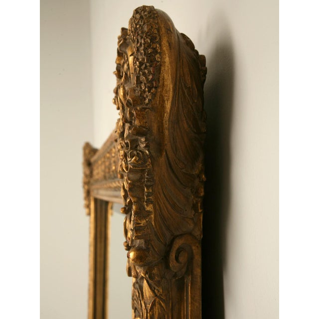 English Traditional Floor-Size 19th Century English Traditional Giltwood Reproduction Mirror For Sale - Image 3 of 9