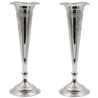 Pair of Trumpet Vases For Sale