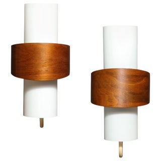 Pair of Modernist Sconces by Louis Kalff, Netherlands, 1960s For Sale