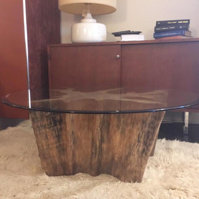 Vintage Cypress Wood Coffee Table - Image 4 of 9