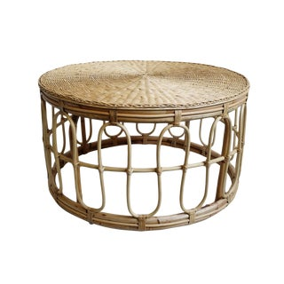 Round Rattan Coffee Table For Sale