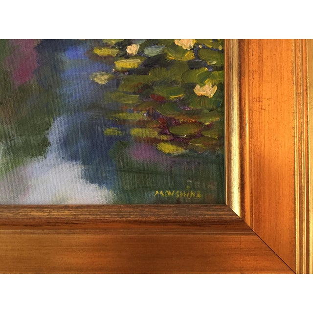 A vibrant original painting created plein-air in Tower Grove Park. Unlike Monet, I don't have waterlilies in my garden!...