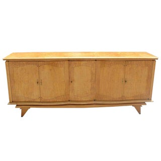Beautiful French Art Deco Sycamore Sideboard /Buffet, Circa 1940's. For Sale