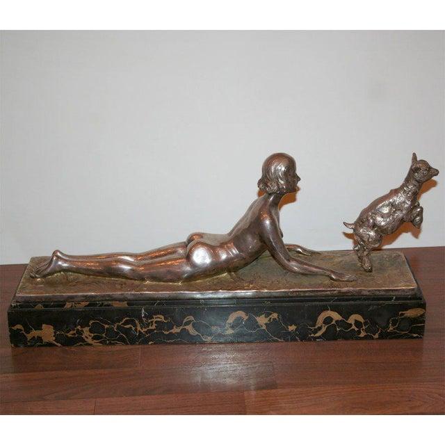 Silver Art Deco Bronze Sculpture by Joseph d'Aste For Sale - Image 8 of 8