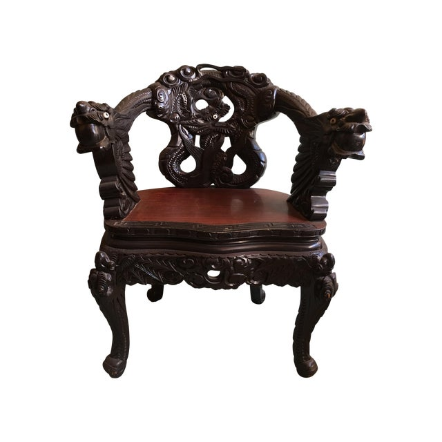 Antique Chinese Elaborately Carved Dragon Chair - Antique Chinese Elaborately Carved Dragon Chair Chairish