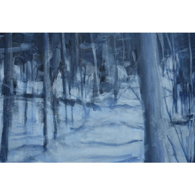 """Contemporary Stephen Remick """"Silent Moonlight"""" Contemporary Expressionist Landscape Painting For Sale - Image 3 of 9"""