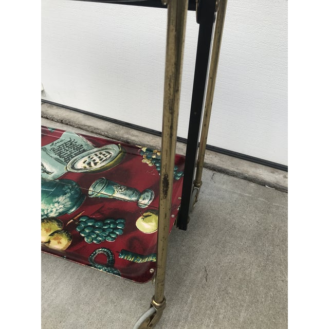1960s German Still Life Print Bar Cart For Sale In San Francisco - Image 6 of 13