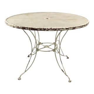 Wrought Iron Patio Garden Table Attributed to Woodard. For Sale