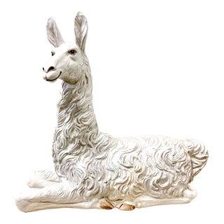 Large Scale Hollywood Regency Italian Terracotta Llama For Sale
