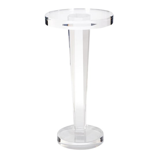 Kenneth Ludwig Clear Acrylic Martini Table For Sale