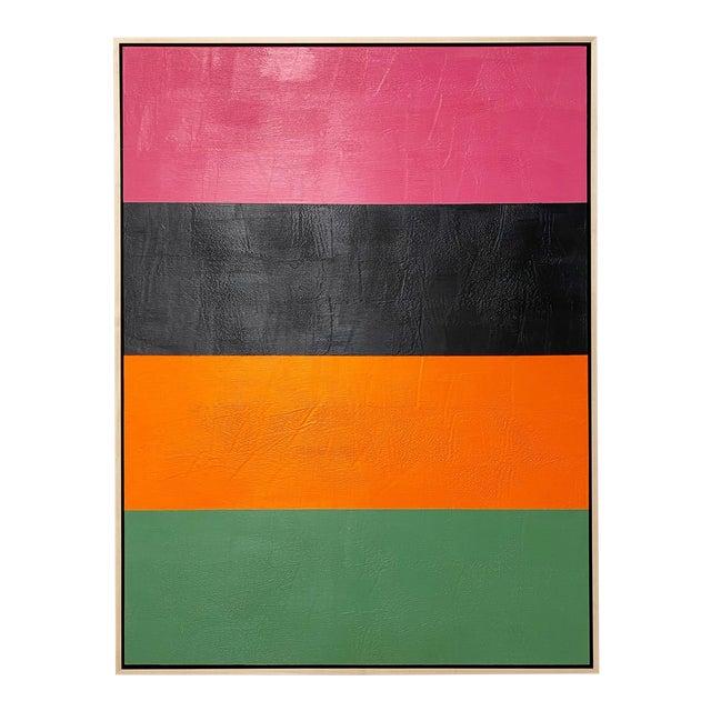 "Exclusive John O'Hara ""Line Dance 1"" Encaustic Painting For Sale"