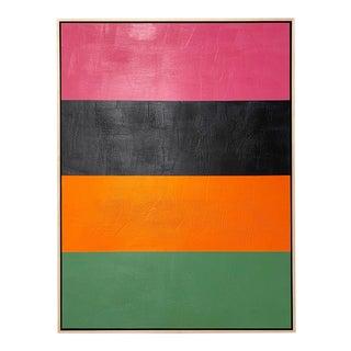 """John O'Hara """"Line Dance 1"""" Encaustic Painting"""
