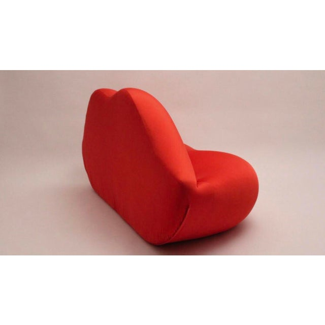 "Contemporary 1990s Vintage Studio 65 ""Marilyn Bocca Lip"" Red Sofa For Sale - Image 3 of 4"