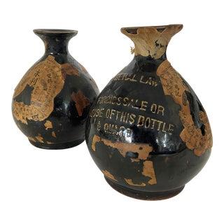 20th Century Japanese Sake Jars - a Pair For Sale