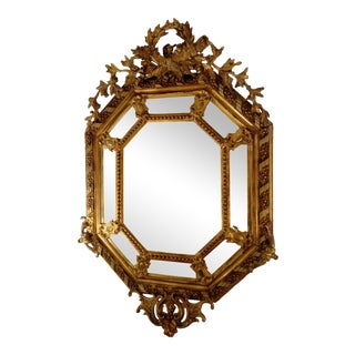 Antique Hand-Carved European Mirror