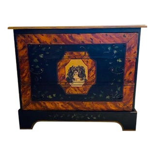 Painted Chest With Dog Face For Sale