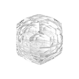 "Italian Faceted Crystal 5"" Orb Box For Sale"