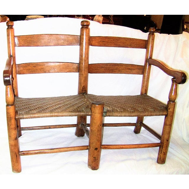 19c American Walnut Wagon Seat For Sale In Dallas - Image 6 of 10