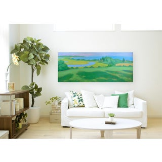 "Large 32"" X 80"" Contemporary Painting, ""Summertime by the Ocean"", by Stephen Remick Preview"