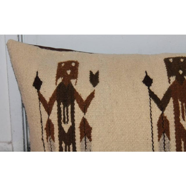 1950s Yea American Indian Pictorial Weaving Pillow For Sale - Image 5 of 7