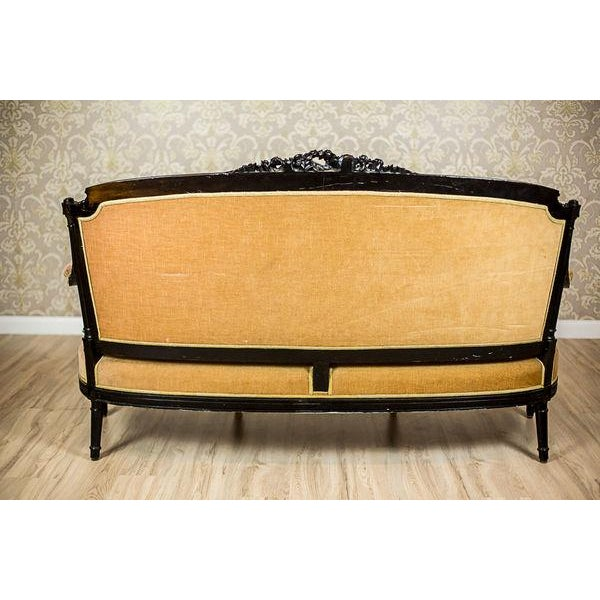 Orange Antique Sofa from the Mid. 19th c. For Sale - Image 8 of 13