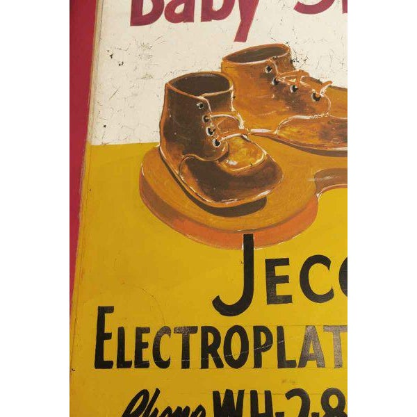 Double Sided Baby Shoe Bronzing Sign For Sale - Image 4 of 6